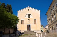 Sv Misa church exterior along Edmonda de Amicisa street Rovinj the Istrian peninsula Croatia Europe