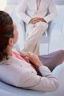 Businesswomen sitting in meeting