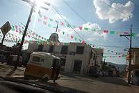 Decoration in Oaxaca streets.
