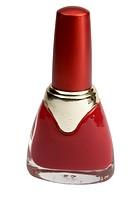 bottle with nail polish isolated on white