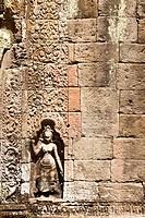Figure at Ta Phrom temple