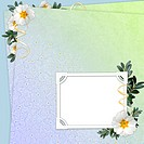 Floral background with frame