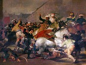 GOYA: SECOND OF MAY 1808.The Second of May 1808 (The Charge of the Mamelukes). Mamluks of the French Imperial Guard attack a crowd of civilians on Cal...