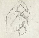 C�ZANNE: STUDY.Study of the 'Ecorch�.' Pencil drawing by Paul C�zanne, mid 19th century.