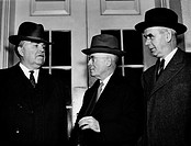 JOHN LLEWELLYN LEWIS/n(1880-1969). American labor leader. President Lewis, Secretary-Treasurer Thomas Kennedy, and Vice-President Philip Murray (from ...