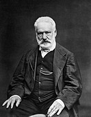 VICTOR HUGO (1802-1885).French man of letters. Photograph by �tienne Carjat.