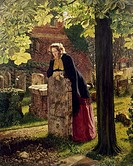 BOWLER : THE DOUBT, 1855.The Doubt: 'Can These Dry Bones Live?' Oil on canvas by Henry Alexander Bowler, 1855.