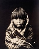 NAVAJO CHILD, c1904.A Navajo child wrapped in a blanket. Photograph by Edward Curtis, c1904.