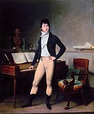 FRANCOIS ADRIEN BOIELDIEU.(1775-1834). French composer. Oil on canvas by Louis-L�opold Boilly, 1800.