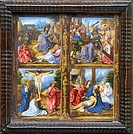 Four Scenes from the Passion, ca  1520, by Master of the Blumenthal Passion, Netherlandish, Oil on wood, 11 3/4 x 11 3/8 in  29 8 x 28 9 cm, Metropoli...