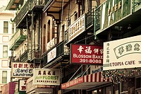 USA, California, San Francisco, Chinatown, Chinatown building detail