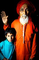 A Hindu Sadhu and a young family relative