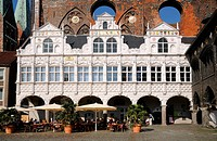 Luebeck, Germany, Medieval Town Hall
