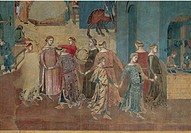 The Effects of Good Government in the City and Country, by Lorenzetti Ambrogio, 1338 _ 1339, 14th Century, fresco