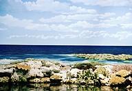 A blue ocean, Australia.
