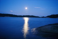 Fullmoon by the sea, Sweden.