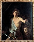 David with the Head of Goliath, by Merisi Michelangelo known as Caravaggio, 1609 _ 1610, 17th Century, oil on canvas