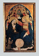 Coronation of the Virgin, by Nicolo di Pietro, 14th Century, tempera on board with golden background