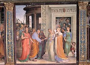 Marriage of the Virgin, by Domenico di Giacomo di Pace known as Beccafumi Domenico, 1518, 16th Century, fresco