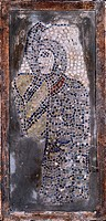 Soldier crusader, by Unknown, 13th Century, polychrome mosaic