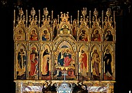 Polyptych of the Coronation of the Virgin and Saints, by Jacobello del Fiore, 15th Century, panel
