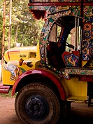 Decorated trucks in Alleppey, Kerala, India