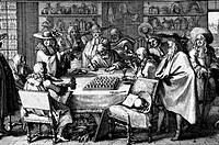 HERBAL MEDICINE, 1676.Men examining medicines made from the plants of the Jardin du Roi (now Jardin des Plantes), in Paris. Line engraving, 1676.