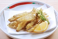 Japanese Smelt Fish Tempura Basket Japanese Food