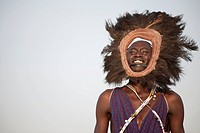 Kenyan man in tribal attire