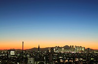 Cityscape in the evening, copy space, Tokyo prefecture, Japan