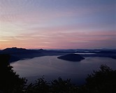 Lake Towada in the morning, Towada city, Aomori prefecture, Japan