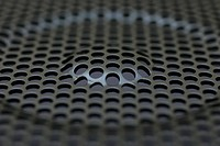 Close_up of a Speaker cone.