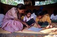 EDUCATION, INDIA. Andhra Pradesh, Rishi Valley. Centre for New Education. Classroom where children learn in an unthreatening atmosphere. .