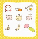 various types of sticker icons