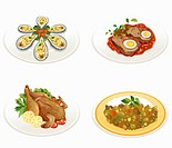 various types of food