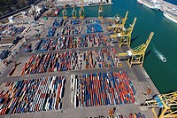 Containers, Port of Barcelona, Catalonia, Spain