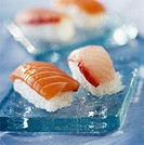 Salmon and sea bream Sushis
