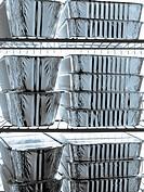 Aluminium cartons in the refrigerator