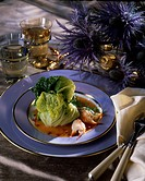 Crayfish and cabbage Paupiettes
