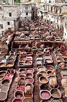 The Chouwara Chouara Tannery, The Medina, Fez, Morocco