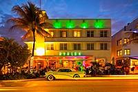 Avalon Hotel at dusk, South Beach, Miami