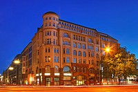 Old Office Building at Alster River Hamburg, Germany