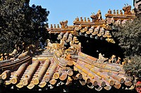 Beijing (China): roofs at the Forbidden City