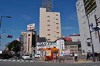 Fukuoka (Japan): street corner in Hakata