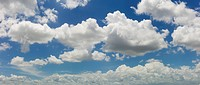 Magnificent cloudscape against blue sky