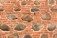 Brick wall with walled_up stones