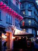 Brasserie at night, Paris, France