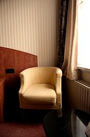 Armchair, bedroom, window