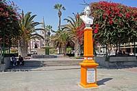 San Marcos cathedral, Catedral de San Marcos, Colon square, Plaza Colon, Platz, Kathedrale, Kirche, Arica, Norte Grande, northern Chile, Nordchile, Ch...
