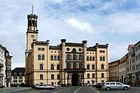 Zittau: Rathaus der Stadt in der Oberlausitz im Stil der italienischen Renaissance. Zittau: City hall of the town in the Upper Lusatia in the style of...